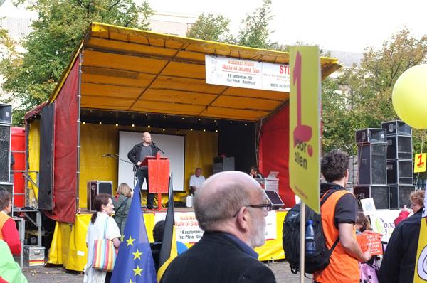 Huib Haye van der Werf spreekt namens Platform BK.