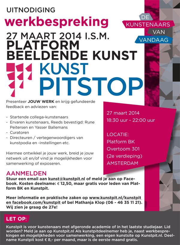 Uitnodiging Kunst Pitstop Platform BK